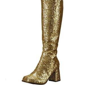 👢 Groovy Gold Go-go Boots 10 NWOB 👢